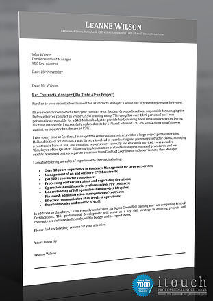 Job Cover Letter Example Australia