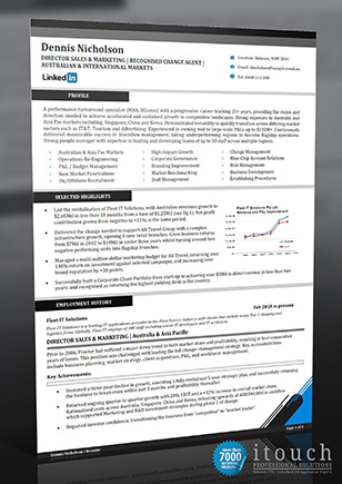 Resume Examples Australia - Sales Executive