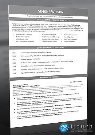 Resume Examples - Executive Assistant & Personal Assistant