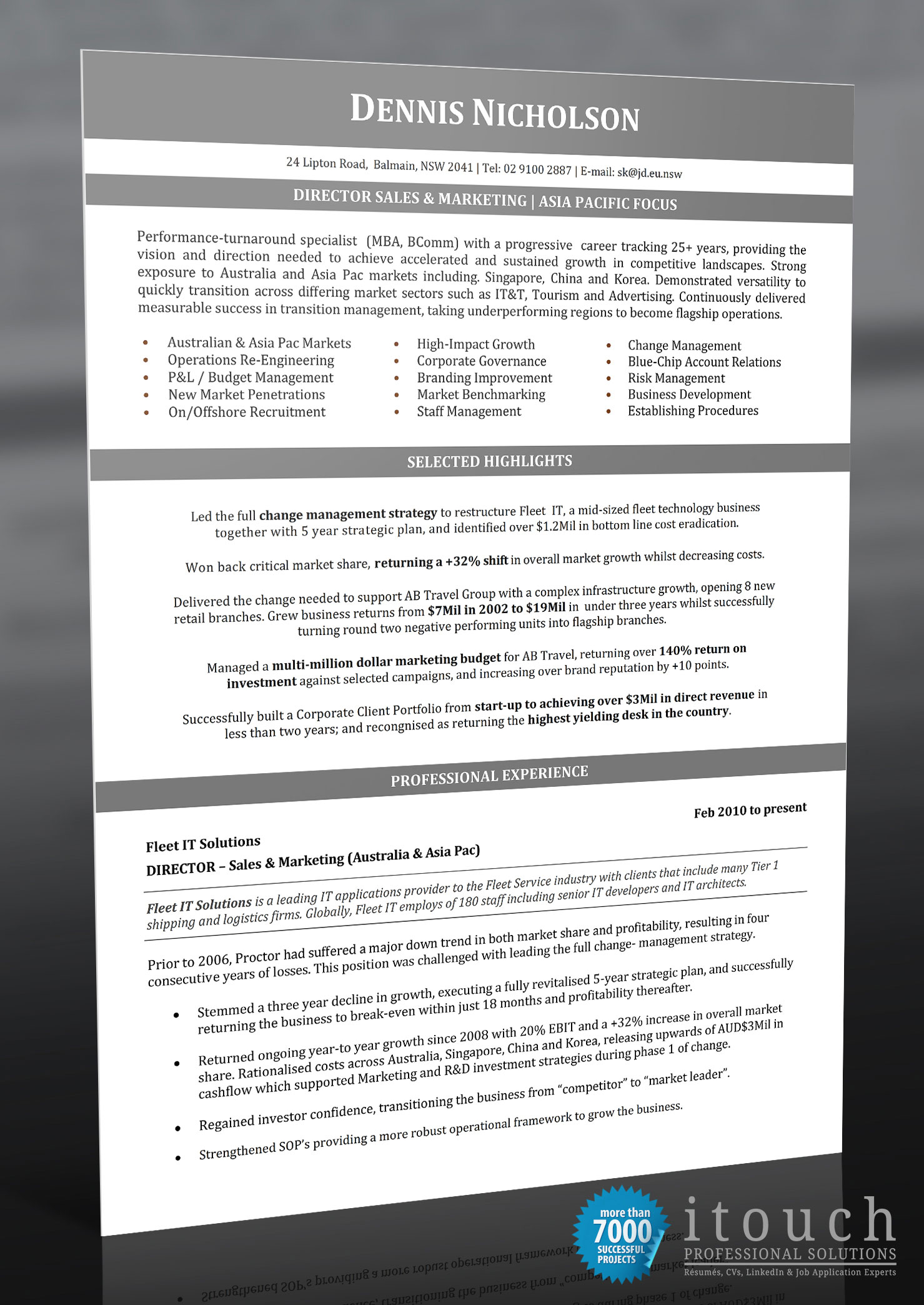 Resume Examples Australia Resume Examples For The